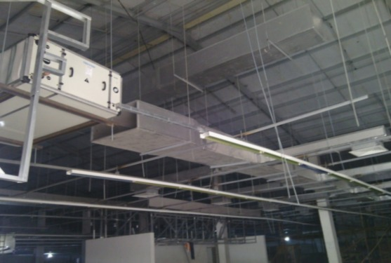 Installation of Central AC Ducts and Systems at a Shopping Mall